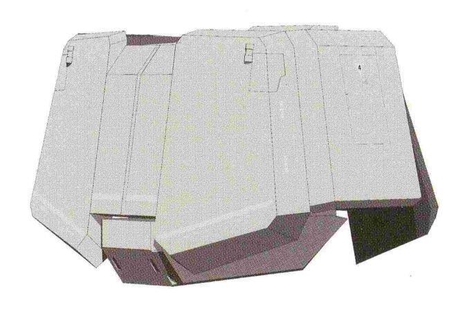 胯部实验性质的大气层突入用冷却系统理所当然没有配备。另外,因为核融炉功率下降等原因,RX-78位于裙甲部位的额外冷却装置在RGM-79被移除。裙甲形成一个完整装甲块。