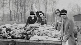"""一位德国艺术家用大屠杀的合成照片,向""""坟头蹦迪""""的风潮宣战"""