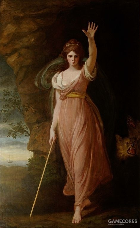 Emma Hart, Lady Hamilton as Circe, 1782 at Waddesdon Manor by George Romney