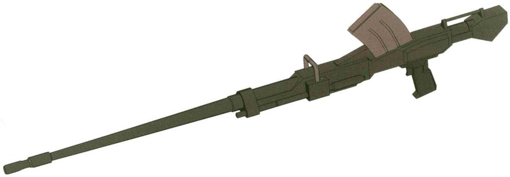 FH-X180 180MM加农炮也是RX-79[G]的主要使用的长距离炮击装备。和无后坐力炮一样可以分解为几个部分塞入货柜中。不过这种长距离的射击武器常见配备于RX-79[G]小队。