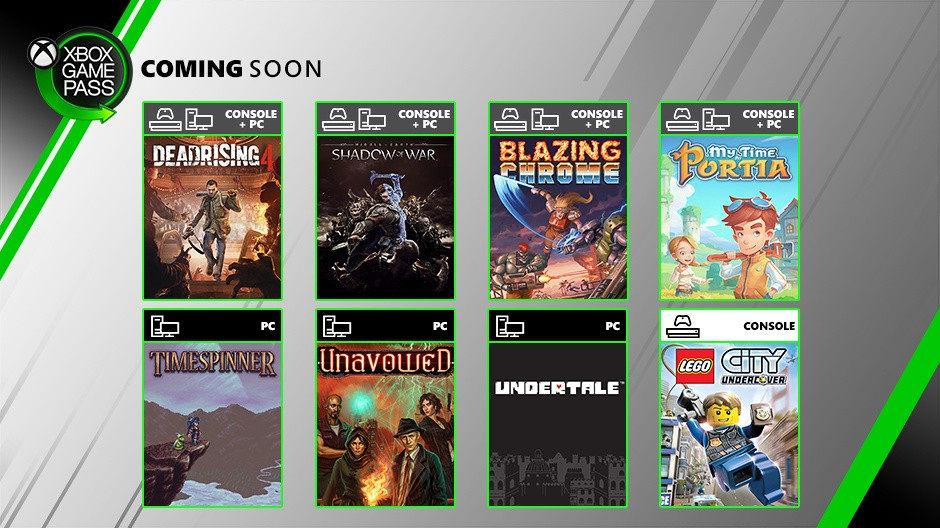 《中土世界:战争之影》、《丧尸围城4》等多款游戏加入XGP 7月游戏阵容