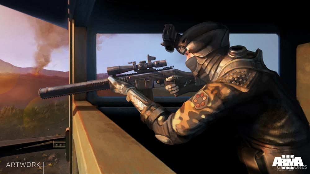 使用ASP-1的狙击手,最初它被设定为北约武器,后来又改了