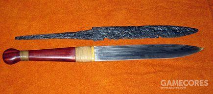 维京海盗的Seax短剑和复制品