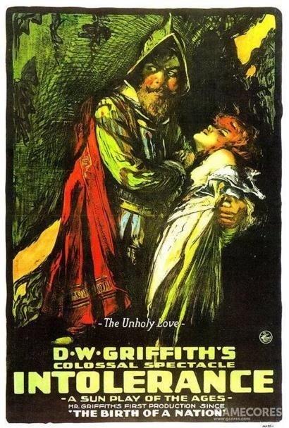 《党同伐异》1916年,海报