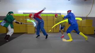 特技演员拍摄真人版《任天堂明星大乱斗》,打斗动作和特效太帅了