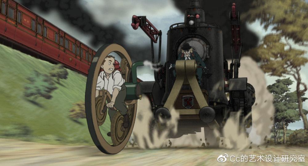 蒸汽男孩中的蒸汽机车与蒸汽摩托互相飙车...