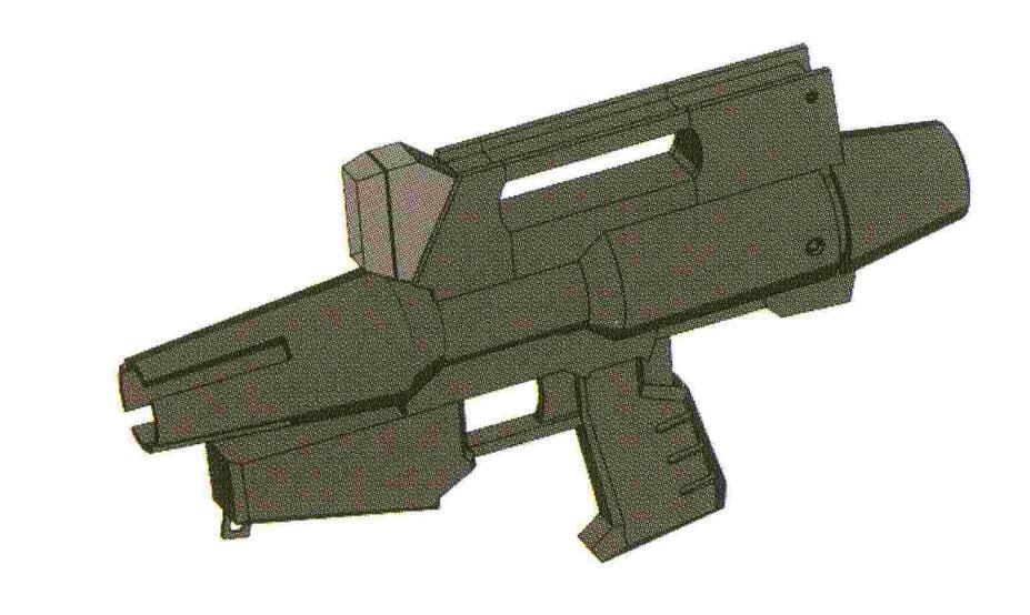 BR-M-79C-3型光束喷枪,为BR-M-79C-1型的改进型,除了长度小幅变短外,最大变化就是增加了一个BP-SS-001瞄准传感器。通过和MS火控系统的共同运作,使命中率提升20%左右。是改进型吉姆主要的光束射击武器。
