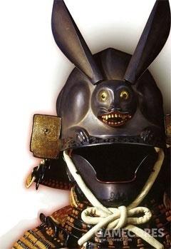 兎形兜(兔子看起来好凶啊!)