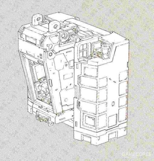 结构复杂的核心战机系统被移除。但是内部结构大体维持了类似RX-78的分段式结构。