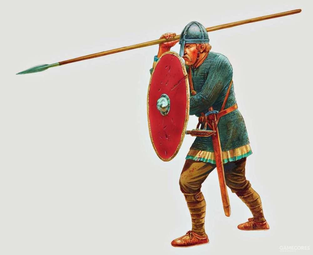11世纪的撒克逊重步兵