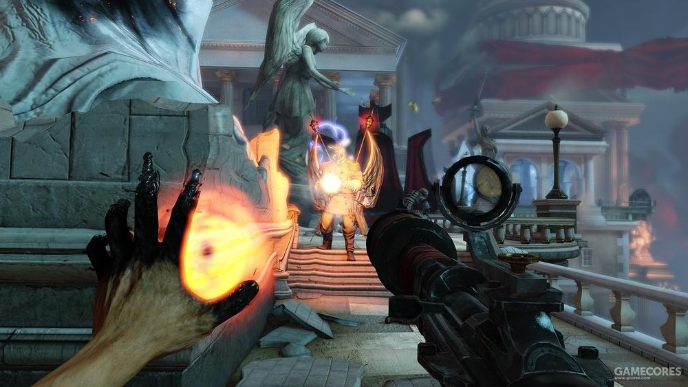 游戏鼓励玩家左右开弓进行战斗