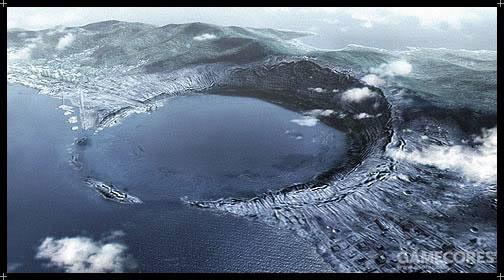 Anderson陨石坑,位于大陆东北角的Newfield岛东海岸