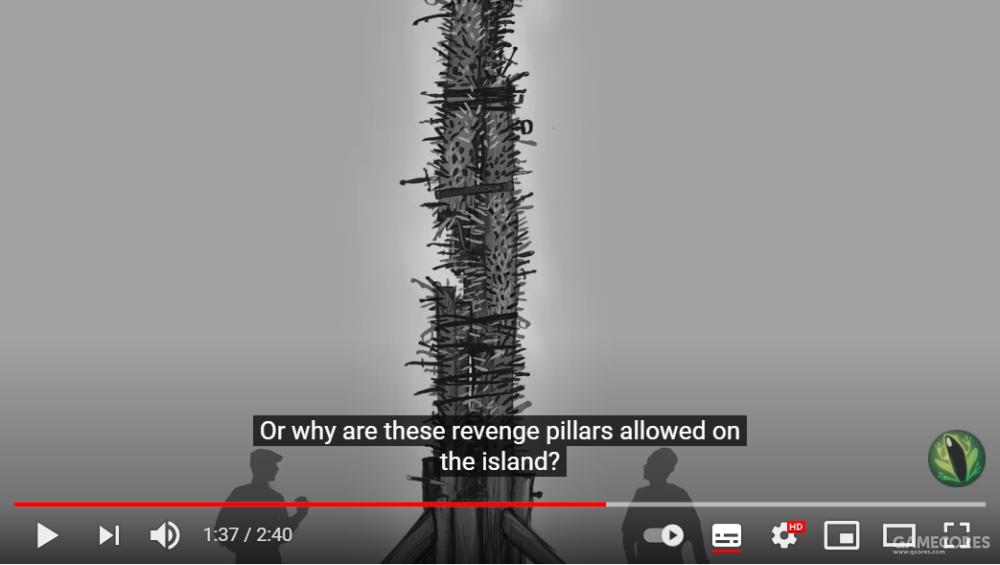 ▲草图中的复仇之柱(revenge pillar)[7]