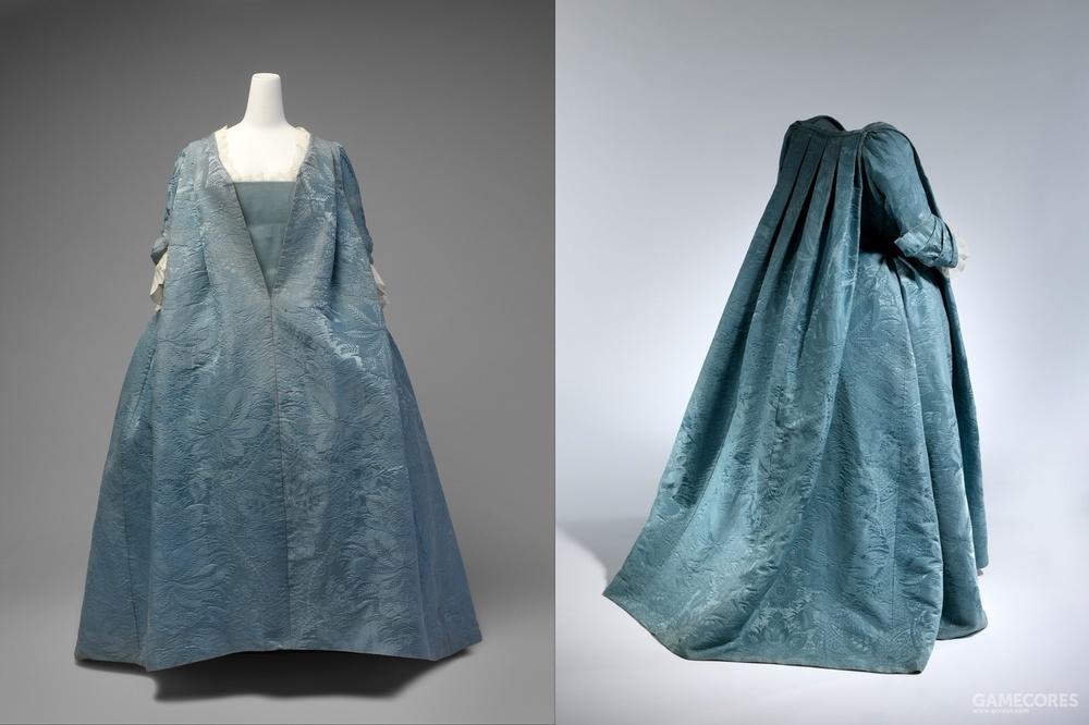 Robe Volante, c 1730 (MET)