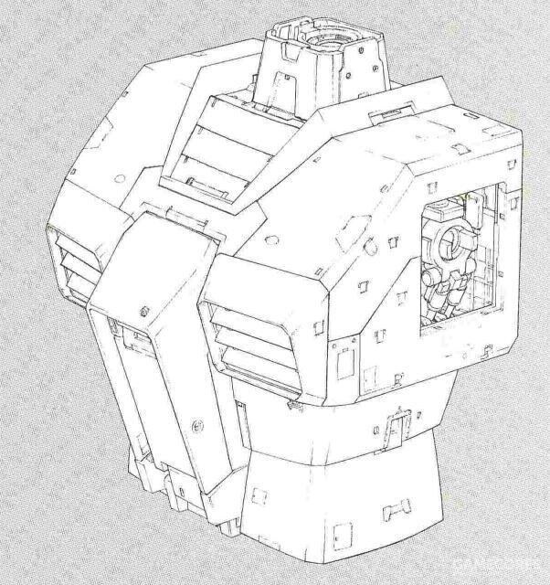 除了核心战机系统被移除以及相关部件有所简化外,RGM-79躯干部位的结构和RX-78基本相同。