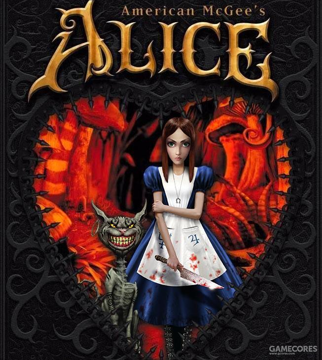 《爱丽丝梦游魔镜》游戏封面