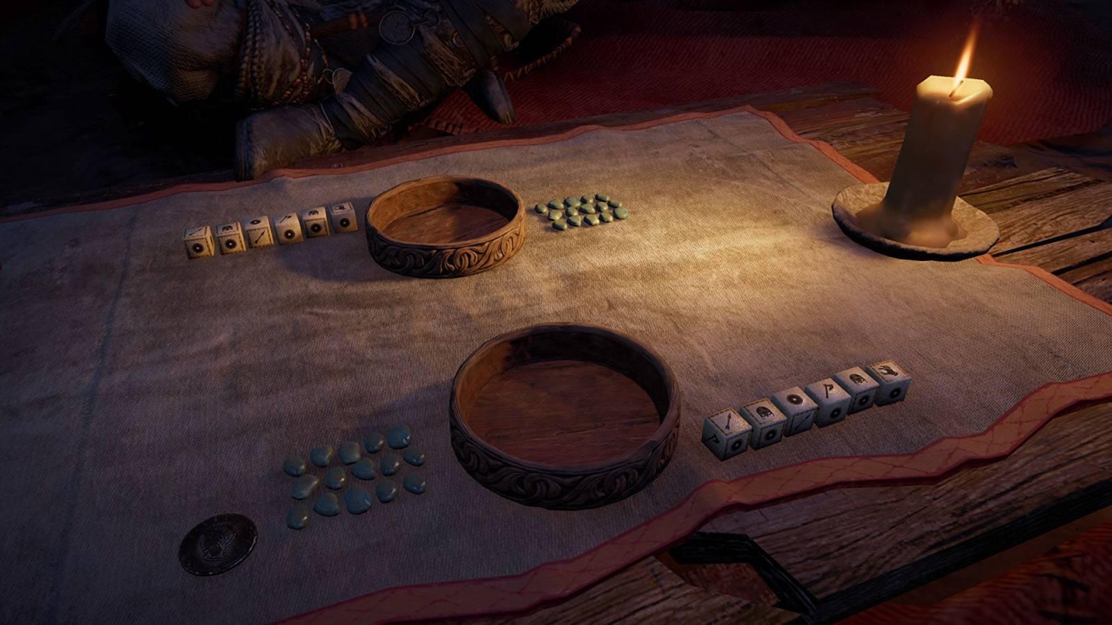 """《刺客信条:英灵殿》骰子游戏""""命运之戏""""将于明年推出实体版"""