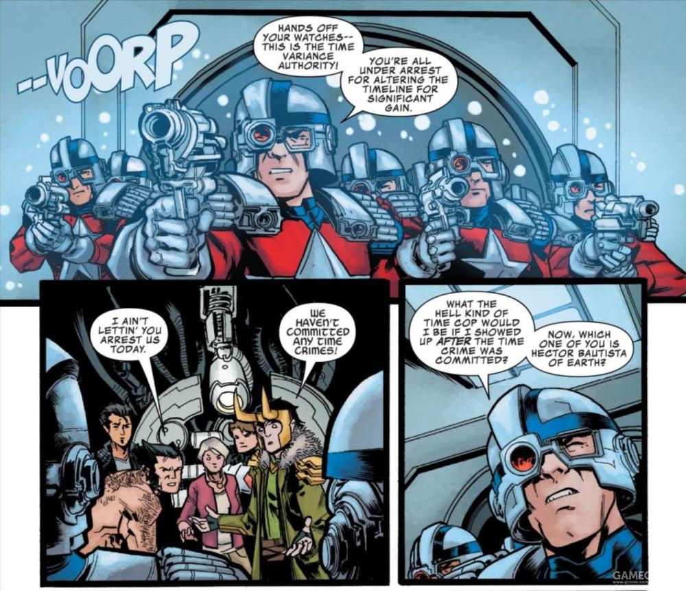 洛基和金刚狼在漫画里也和 TVA 打过交道。