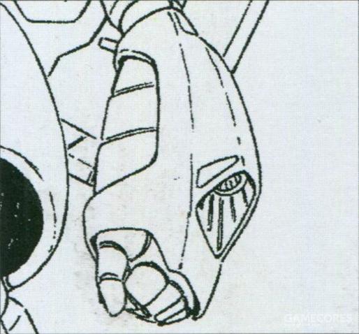 手腕部分的光束炮虽说是以牵制用武器为主要考虑而设计安装的。不过输出功率其实已经达到量产型光束武器水平,只是射程相对有限。