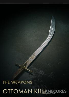 """《战地1》里的土耳其基利杰弯刀,这种如同月牙一般的骑兵剑在14-15世纪出现,但是在""""吉祥事件""""后随着军队改革逐渐被弃用"""