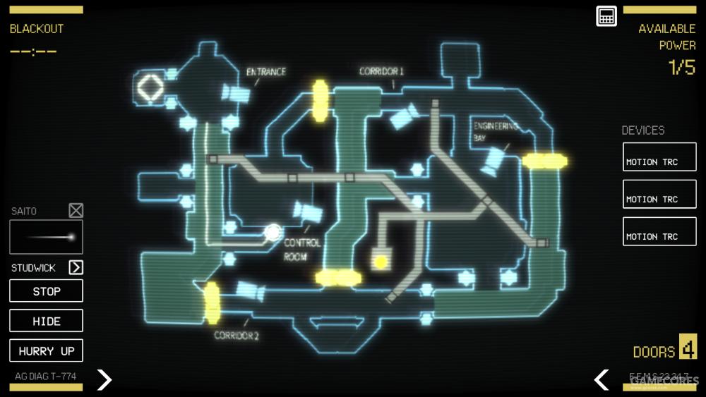 通过数据板为船员规划线路,或命令他们就地躲藏