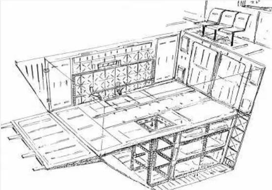 体积庞大的机库能够容纳数十架MS与配套的SFS系统。