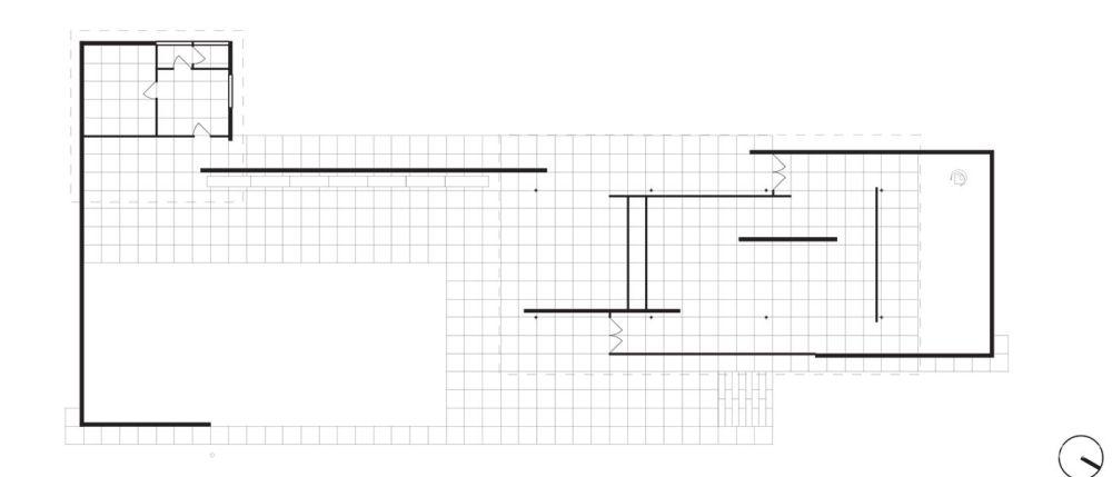 巴塞罗那展会德国馆的平面