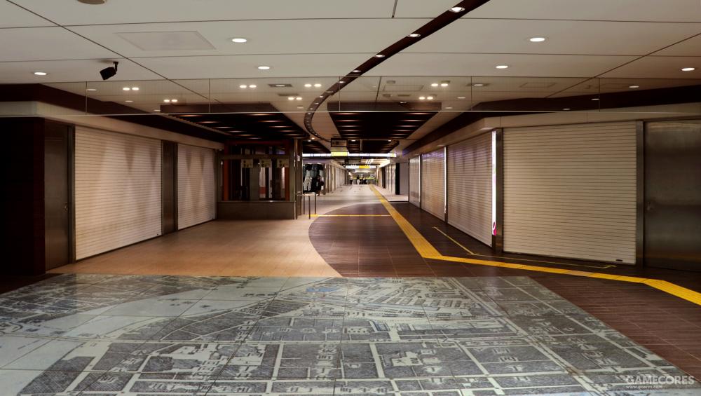 早晨的东京车站还真是有点空旷啊……
