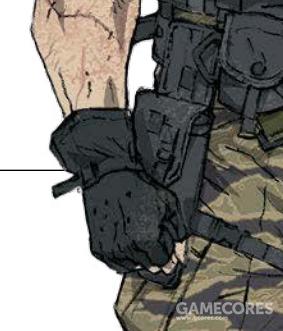 毒蛇角色设定稿的手枪套,和游戏里实际出现的不同