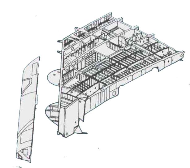 天线阵列以准共形阵形式安装于驾驶舱两侧的机翼前缘内。