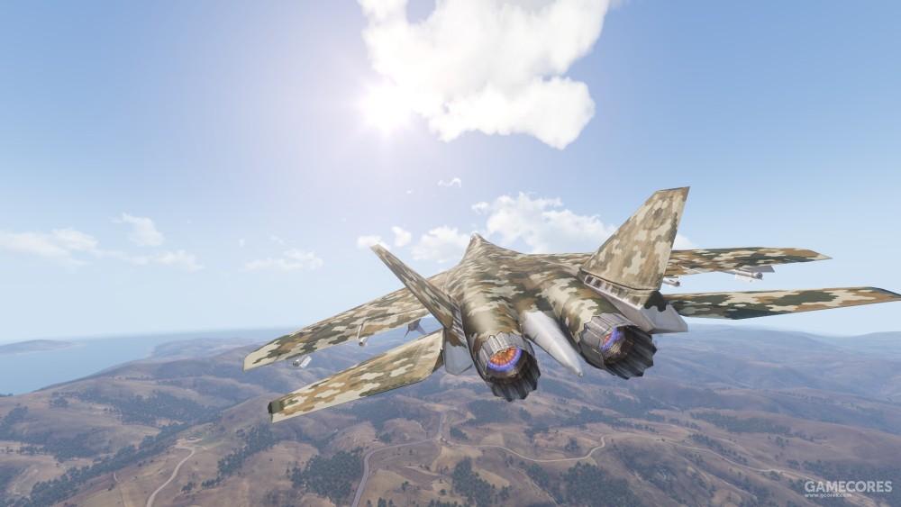 飞行中的To-201
