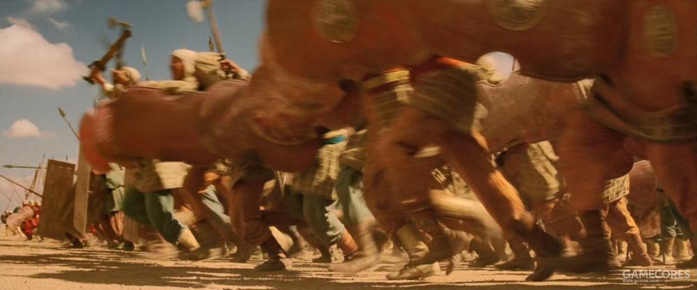 波斯步兵,用斧头和短矛作战