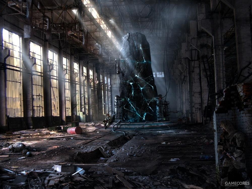 游戏<潜行者>的最终许愿房间概念图。