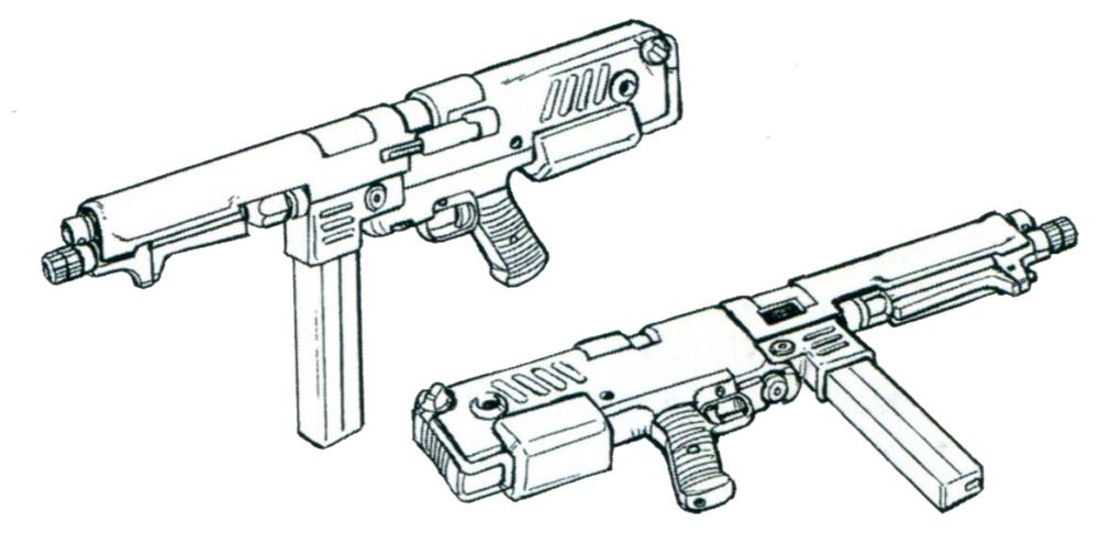 后续部分批次MMP-80移除了下方的197MM专用榴弹发射器以进一步简化生产。该系列机枪装备了几乎所有的吉翁军战争后期依旧在量产的MS型号。