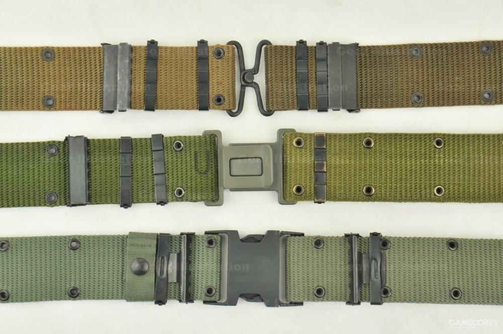 三种不同版本的腰带