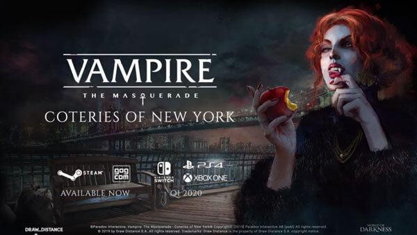 妙不可言:《吸血鬼:避世潜藏 纽约同僚》发布官方中文