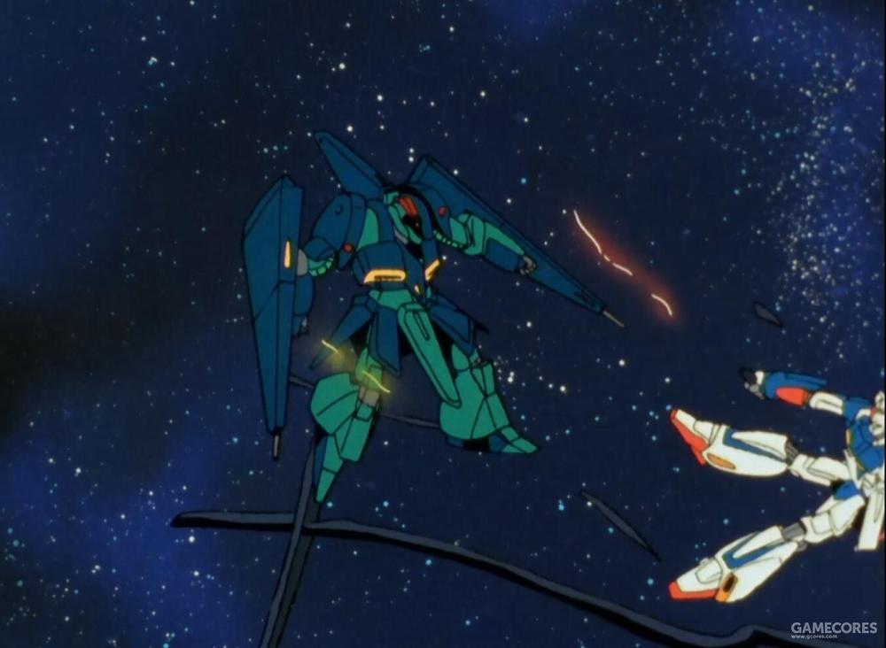 该机甚至一度在交战中压制了AUEG最新锐的Zeta Gundam。如果不是机体视野缺陷的情报意外泄露,该机于阿伽马小队间的胜负尚未可知。