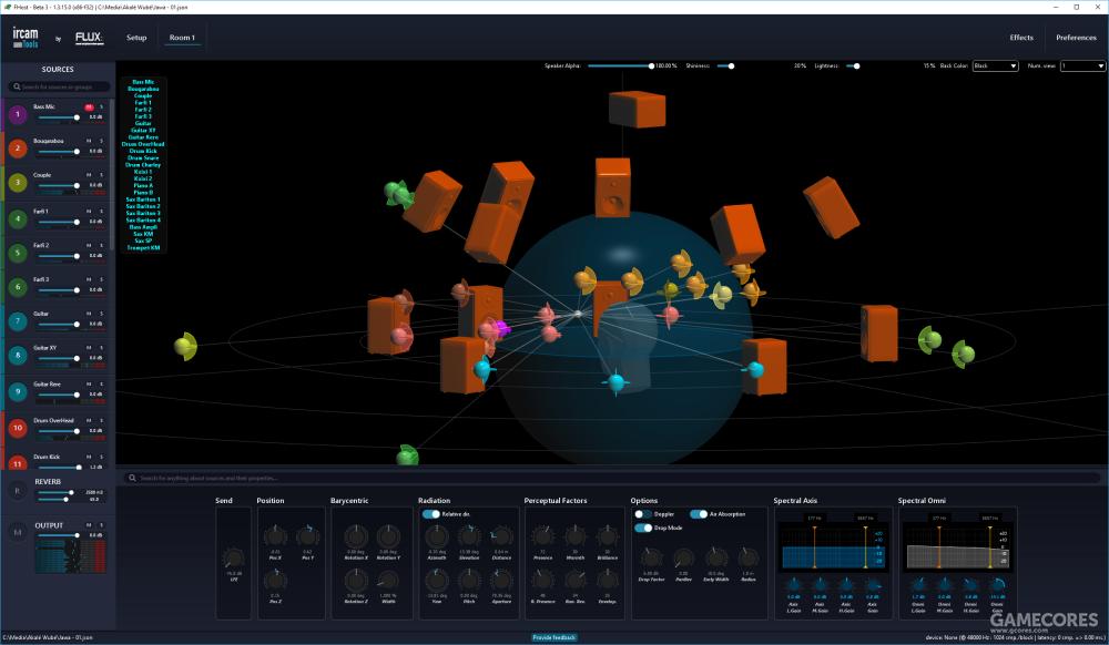一款可以设定声源位置的音频工具SPAT Revolution