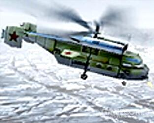 """螺旋直升机,三族最强直升机,可以升级不同模块获得额外能力,升级步兵座舱进五个火箭炮兵对空对地输出爆炸,堪称""""空中战斗要塞"""",本身非常肉很扛打,弱点是飞得慢"""