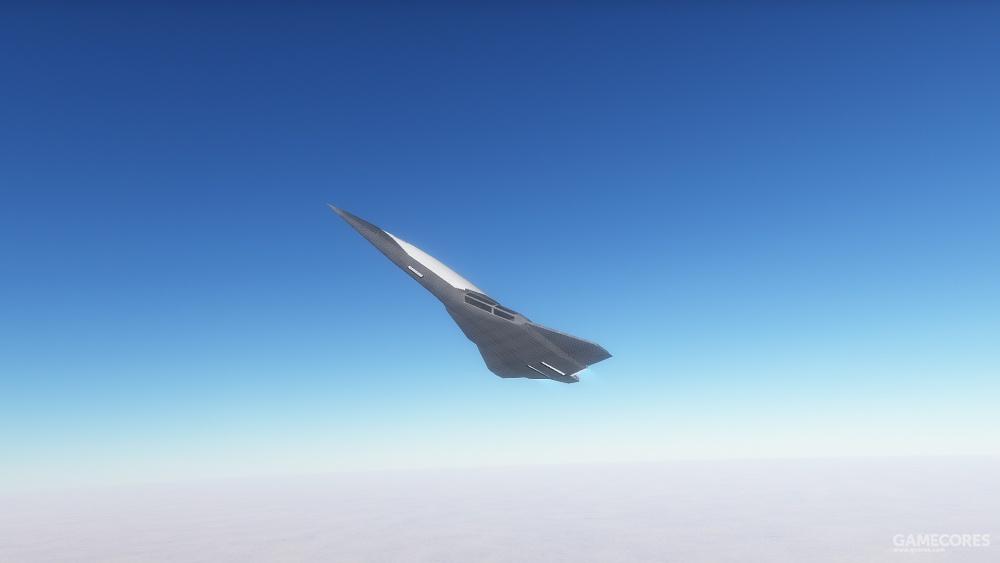 一架在大气层内飞行的空天飞机
