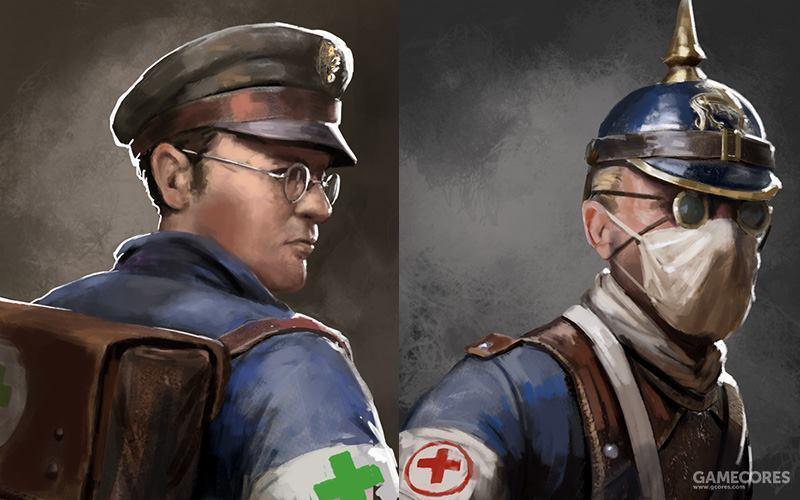 波兰共和国军医(左)和萨克森帝国军医(右)