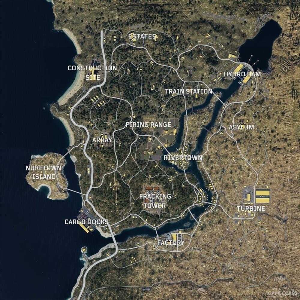 官方公布的地图