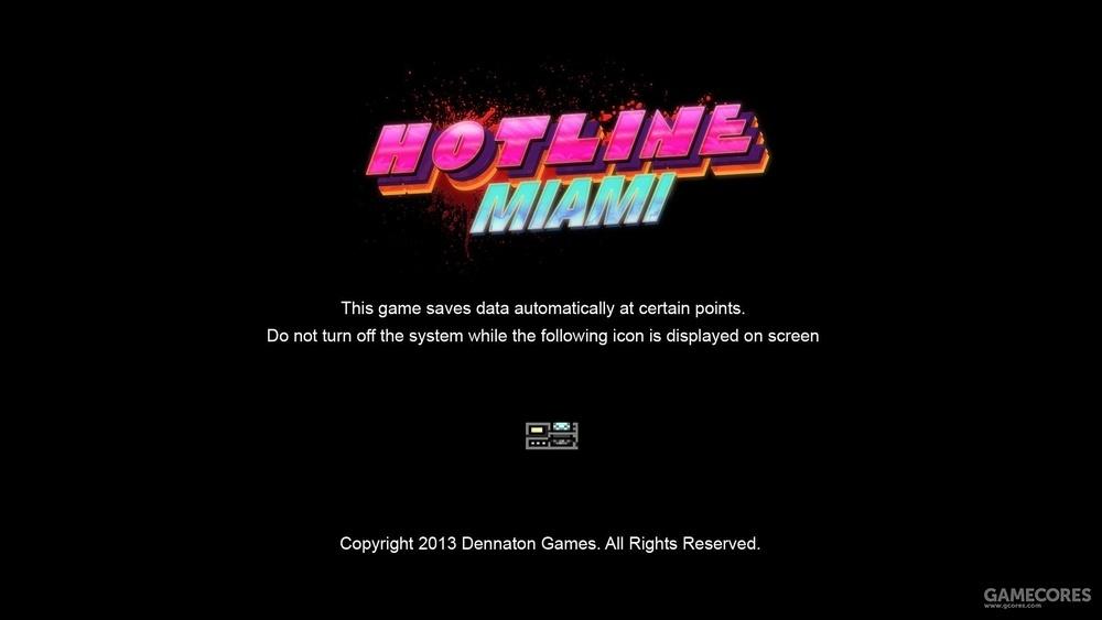 《Hotline Miami》载入画面