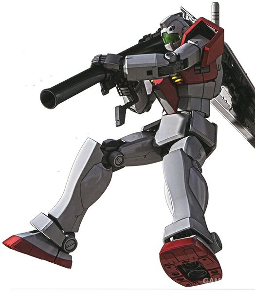不过如果射击技术够好,在真空环境中无后坐力炮依旧能做到对MS大小目标的命中。大口径设计的无后坐力炮带来了不输光束武器的高破坏力。