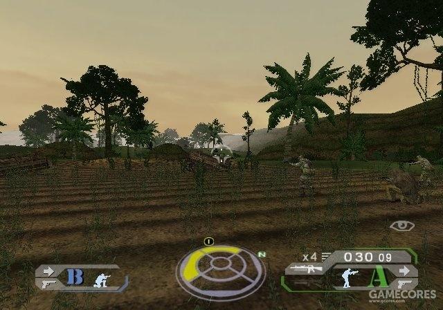 《幽灵行动》PS2版UI