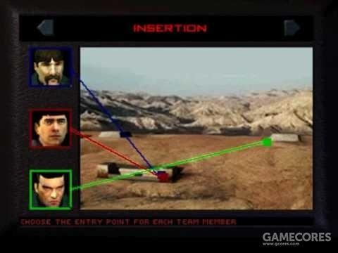 《彩虹六号》(1998,PS)战术布置画面