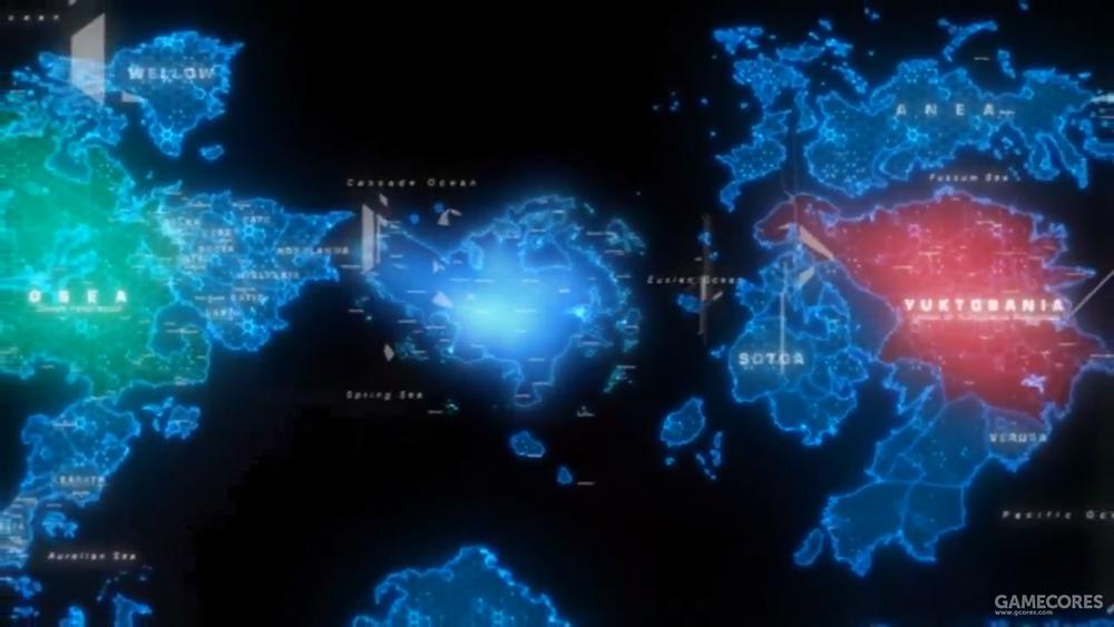 在AC3D里,被刻画为夹在两大超级大国之间的Usea大陆