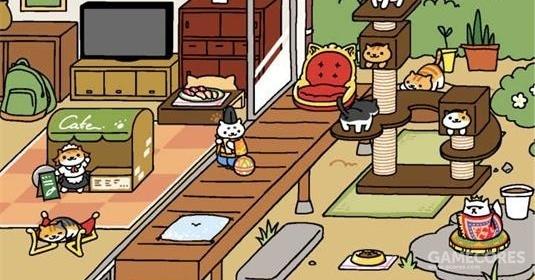 不同猫咪有不同的喜好,它们只能被自己感兴趣的道具与食物组合所吸引