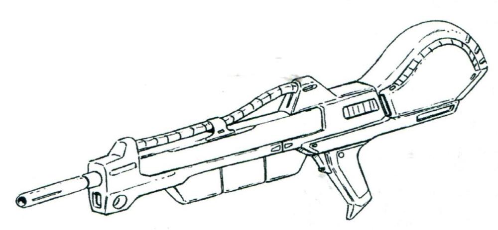 由于要在大气层内作战。BP-L-86光束手枪问题会非常突出。因此主力光束步枪为百式相同的XBR-M-87光束步枪。威力和射程都相当优秀的该步枪足以应对大气层内作战的需求。
