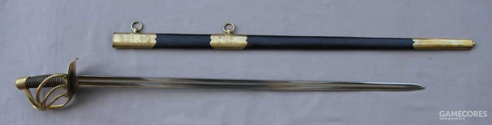 法国12代龙骑兵剑,和轻骑兵的不同,外形笔直